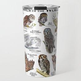Owls of the World Travel Mug