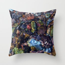 River Rock - The Country Life Throw Pillow