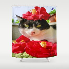 Khoshek queen of flowers Shower Curtain