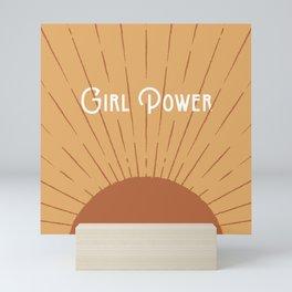 Girl Power - Gold Mini Art Print