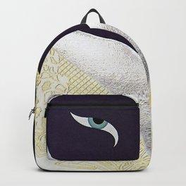 """""""Black & Gold Filigree Heart"""" Design Backpack"""
