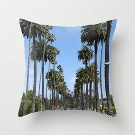 Tall California Palm Trees Photograph Throw Pillow