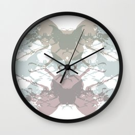 Scarabs Faded Wall Clock