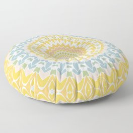 Pastel Pebbles Mandala Floor Pillow