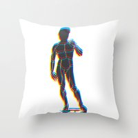 lucas david Throw Pillows featuring David  by sandro laliashvili