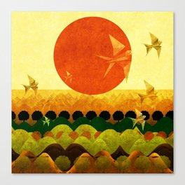 """""""Dawn Cartoon"""" Canvas Print"""