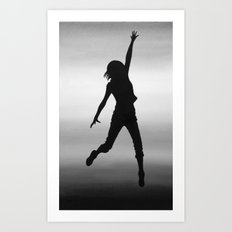 Body Movin - Touch the Sky B&W Art Print