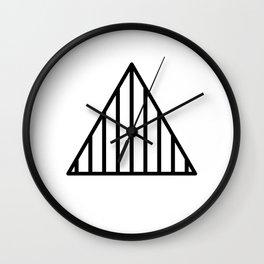 Striped Triangle Wall Clock