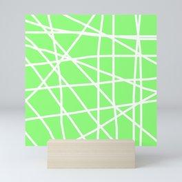 Doodle (White & Light Green) Mini Art Print