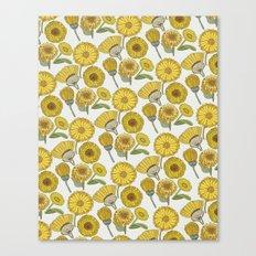 Calendula Florals Canvas Print