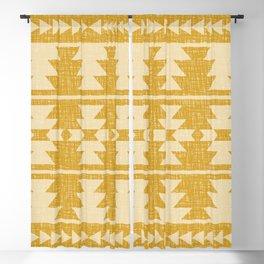Southwestern Pattern 136 Yellow Blackout Curtain