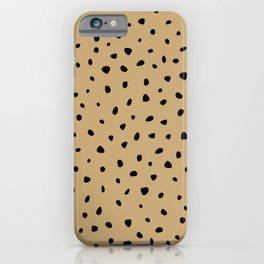 Cheetah Spots animal print minimal wild cat speckles and dots Ginger yellow iPhone Case