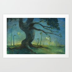 A Tree in the Morning Art Print