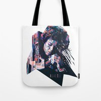 ripley Tote Bags featuring Ellen Ripley : HARD ACTRESS by mergedvisible