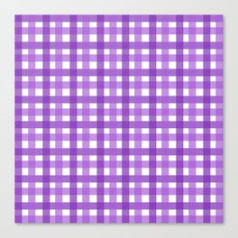 Purple Picnic Cloth Pattern Canvas Print