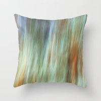 the flash Throw Pillows featuring Flash by Angela Fanton
