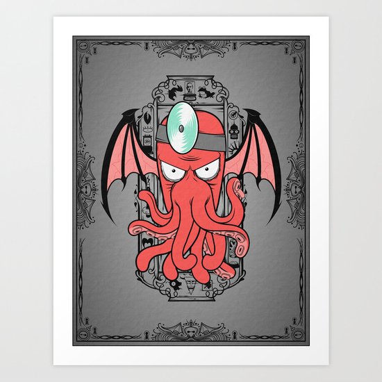 The Call Of Zoidbergthulhu Art Print