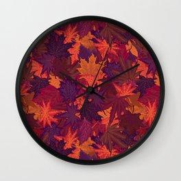 Autumn Crunch Wall Clock