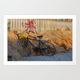 Bike on the Beach Art Print