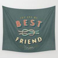 best friend Wall Tapestries featuring Best Friend by Seaside Spirit