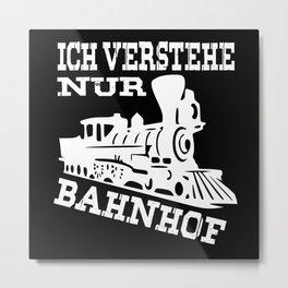 Railroad Railroad Workers Gift Steam Locomotive Metal Print