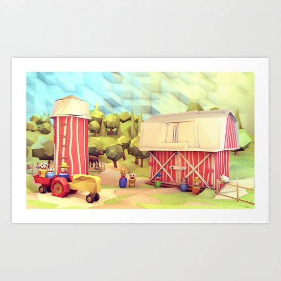 Fisher-Price Farm Art Print