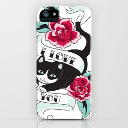 Tattoo Tux Cat iPhone Case