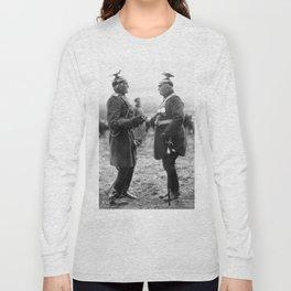 strange early 1900s German Generals in wild uniforms original period postcard Long Sleeve T-shirt