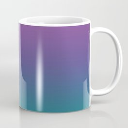 Ombre Ultra Violet Green Pattern | Trendy colors of the year 2018 Coffee Mug