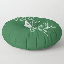 Green Unrolled D20 Floor Pillow