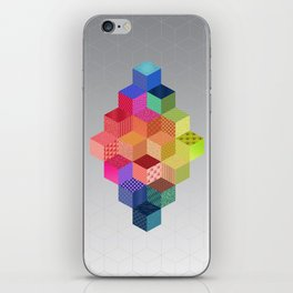 RAINBOW GEOMETRY iPhone Skin