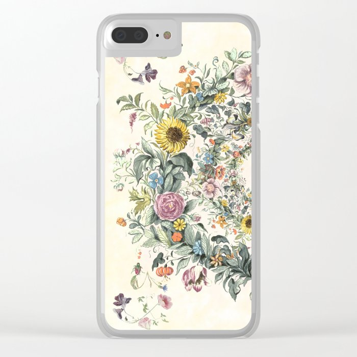 Circle of Life Cream Clear iPhone Case