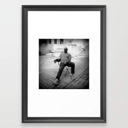 I loafe and invite my soul, Framed Art Print
