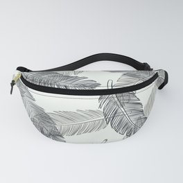 Black Feathers, Pattern Fanny Pack