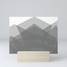 White Winter Skiing Mountain Climbing Mini Art Print