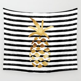 Pineapple & Stripes Wall Tapestry