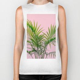 Little palm tree in pink Biker Tank