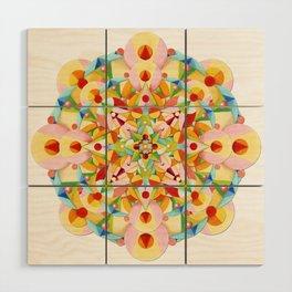 Pastel Carousel Mandala Wood Wall Art