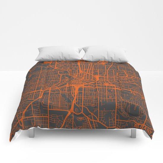 Atlanta map Comforters