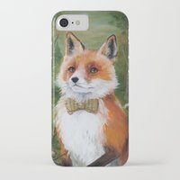 mr fox iPhone & iPod Cases featuring Mr. Fox by Marie-Ève Cardinal