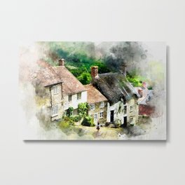 English,England,village,houses,countryside,cottages. Metal Print