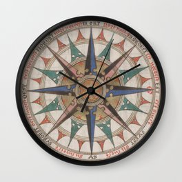 Historical Nautical Compass (1543) Wall Clock