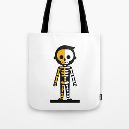 Halloween Minimal Skeleton Tote Bag