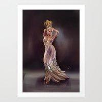 feather queen Art Print