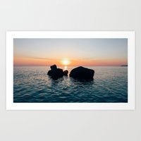 Sunset by the Sea // Landscape Photography Art Print