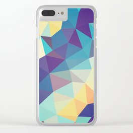 Coral Reef Tris Clear iPhone Case