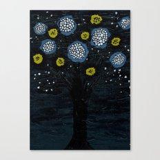 Dark Flower Tree Canvas Print