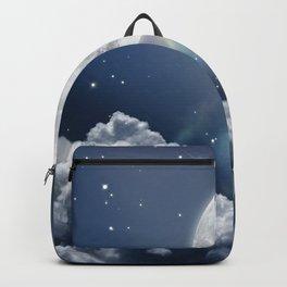 Full Moon Night in Blue Backpack