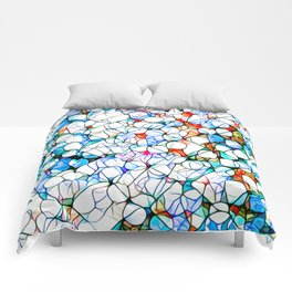 Glass stain mosaic 4 - dots & checkers Comforters