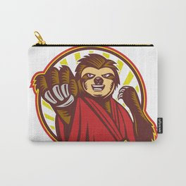 Sloth Fighter Self Defense Circle Mascot Carry-All Pouch